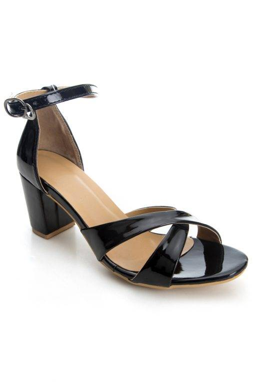 Criss Cross Ankle Strap Heeled Sandals1