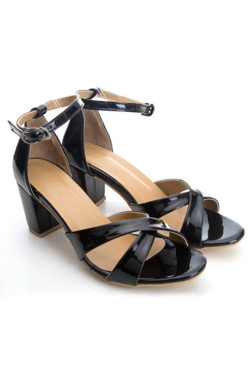 Criss Cross Ankle Strap Heeled Sandals2
