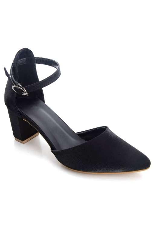 Glitter Finish Block Heeled Sandals1
