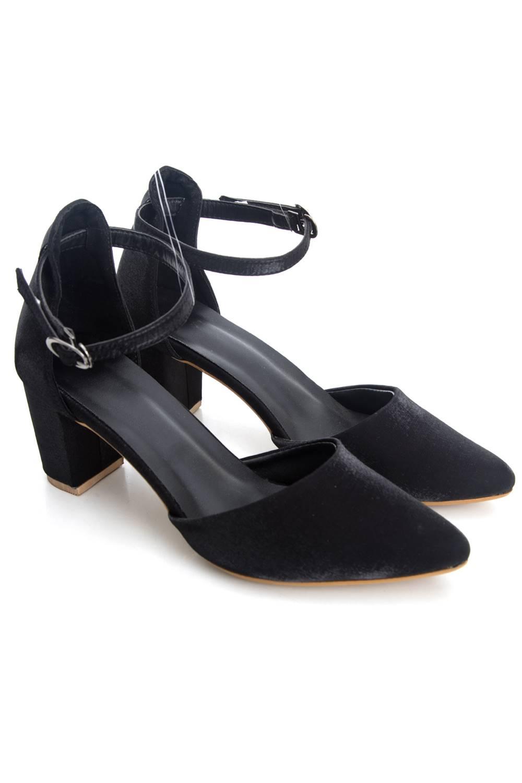 Glitter Finish Block Heeled Sandals2