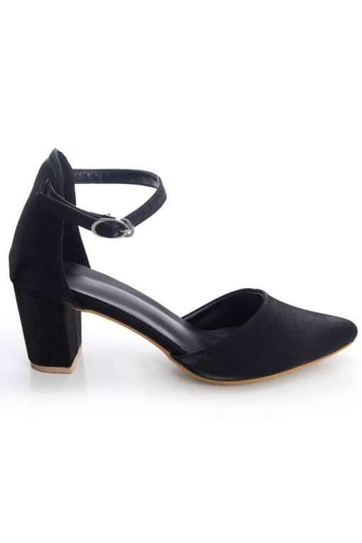 Glitter Finish Block Heeled Sandals3