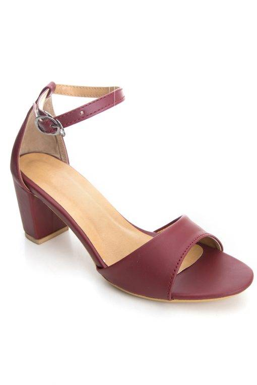 Ankle Strap Block Heeled Sandals1