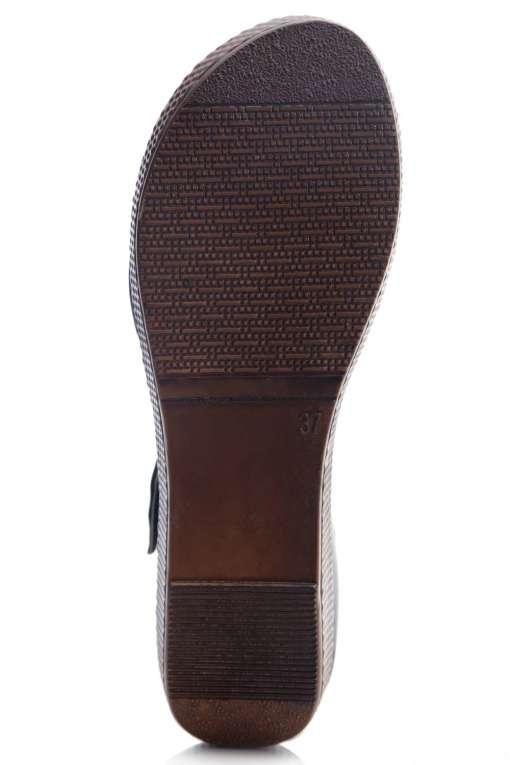 Black Flatform Strap Wedges Sandals5