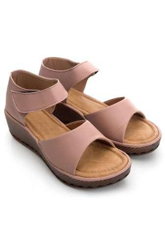 Pink Flatform Strap Wedges Sandals2