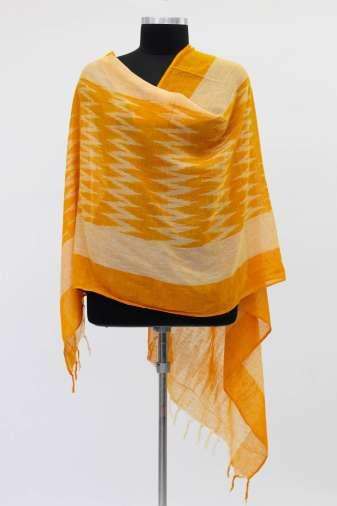 Yellow Ikkat Dupatta2