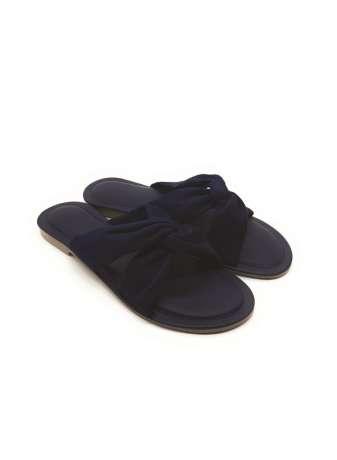 Women's Suede Cross Strap Flat Sandals
