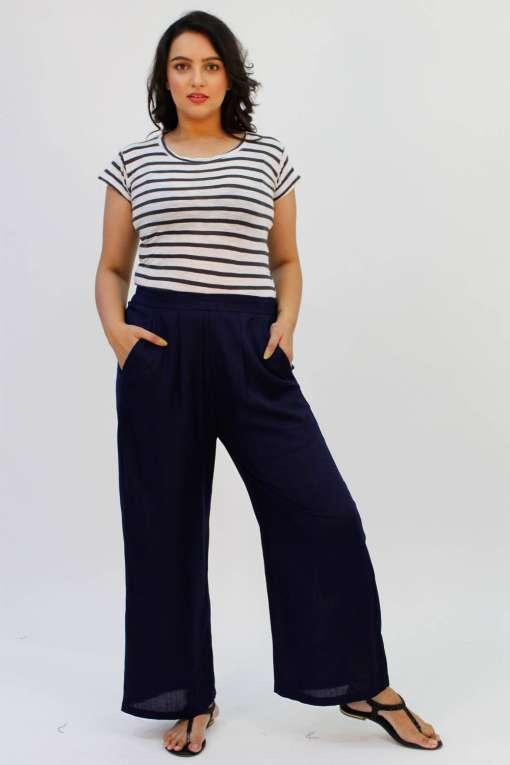 Blue Rayon Trouser1