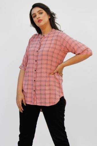 Pink Check Shirt2