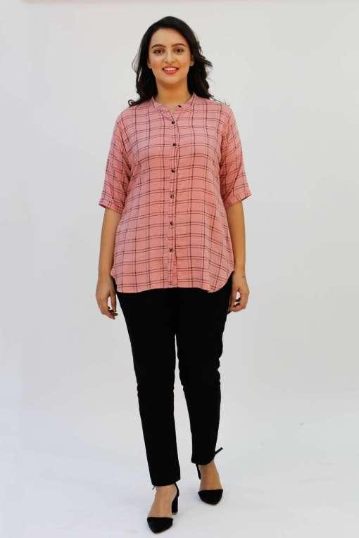 Pink Check Shirt3
