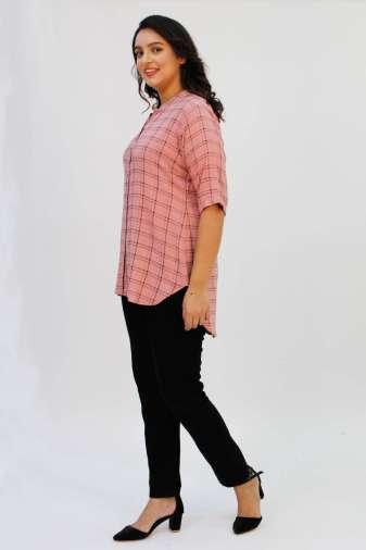 Pink Check Shirt5
