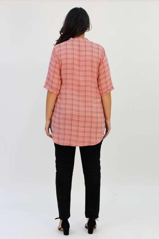 Pink Check Shirt6