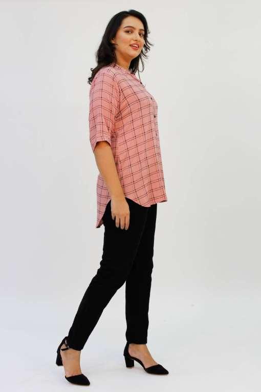 Pink Check Shirt7