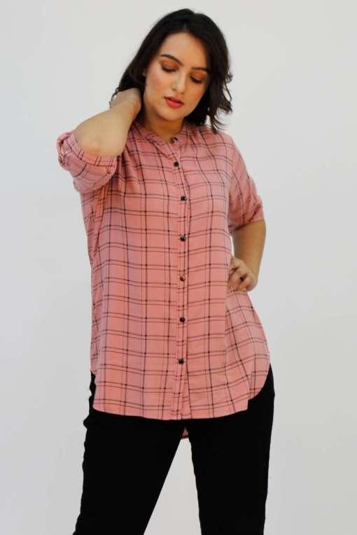 Pink Check Shirt8