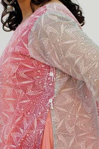 Pink Double Layer Kurti3