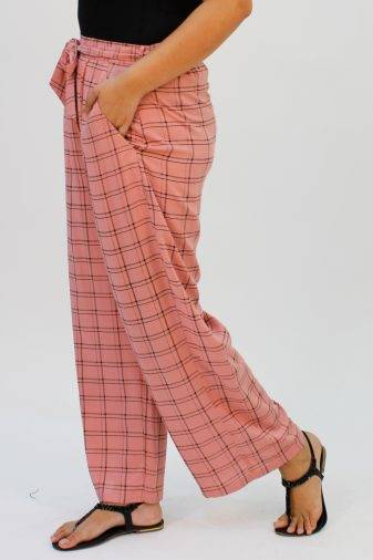 Pink Check Trouser3