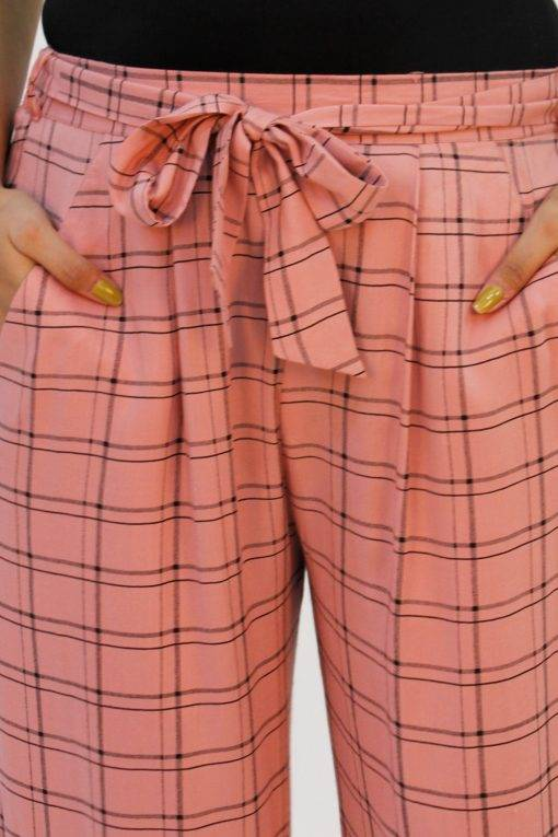 Pink Check Trouser5