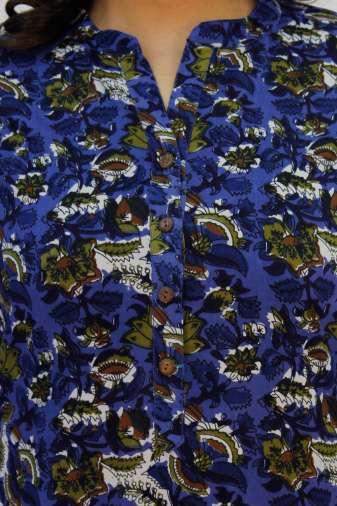 Blue Printed Kurta3