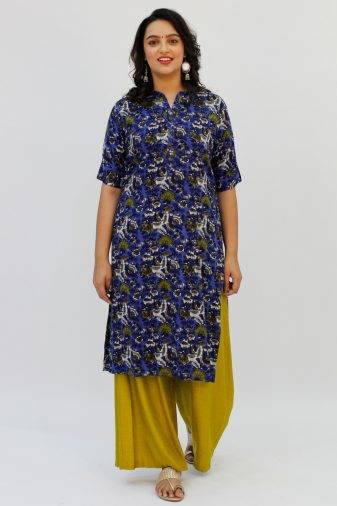 Blue Printed Kurta4