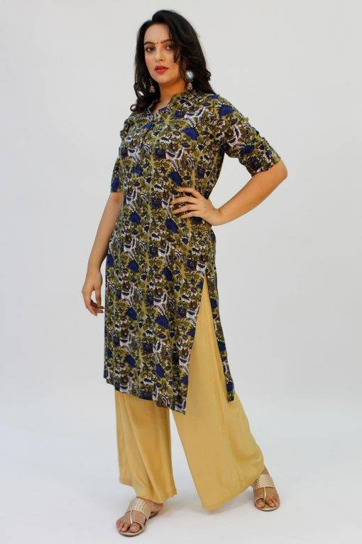 Green Printed Kurta2
