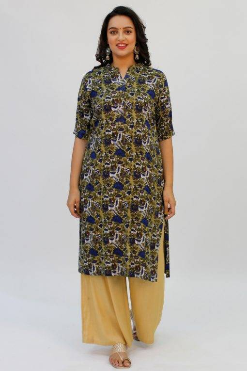 Green Printed Kurta3