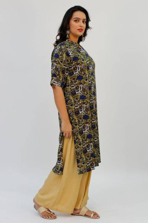 Green Printed Kurta5
