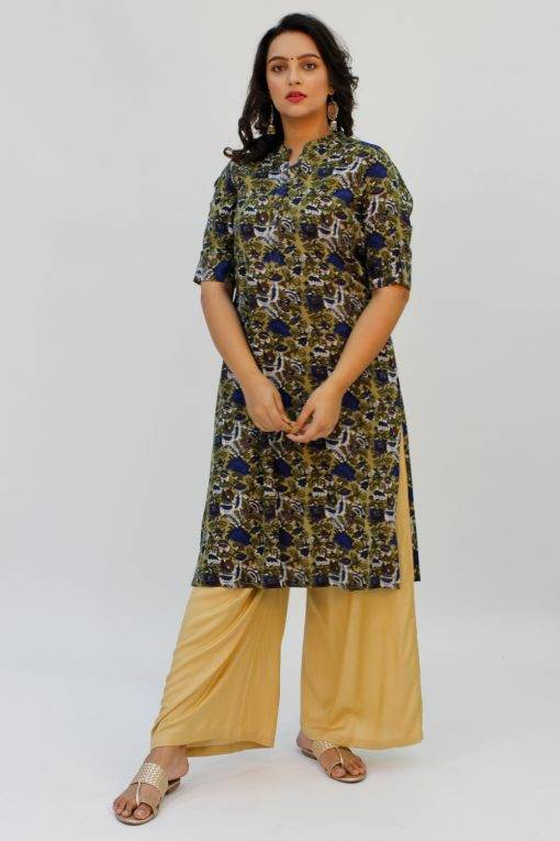 Green Printed Kurta7