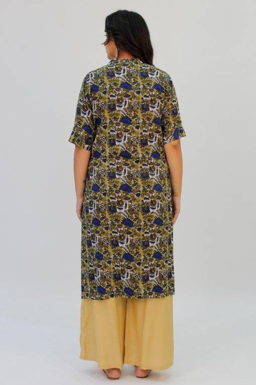 Green Printed Kurta8