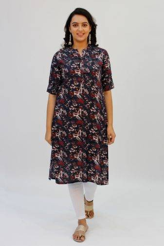 Grey Printed Kurta4