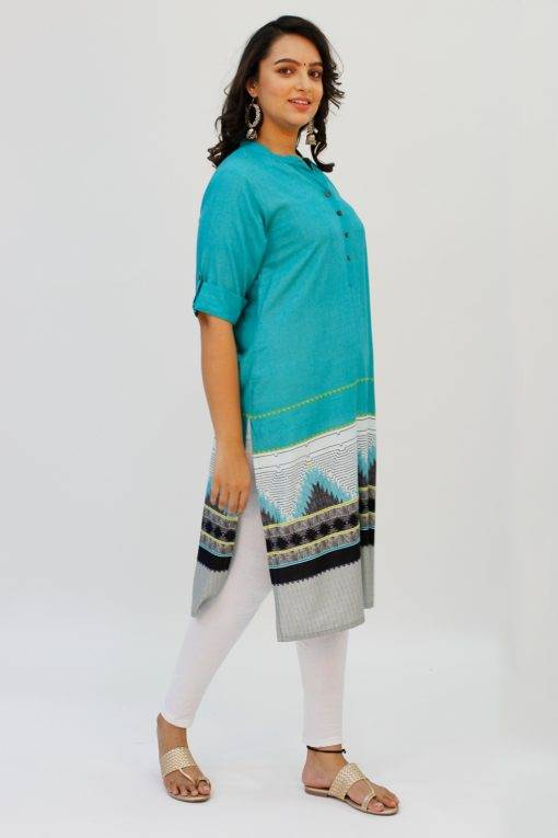Turquoise Printed Kurta4