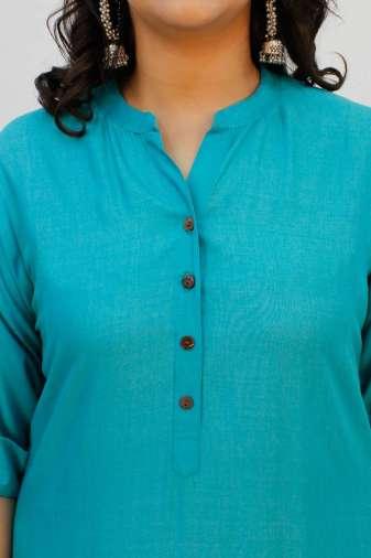 Turquoise Printed Kurta8