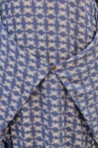 Blue Printed Cowl Dress9
