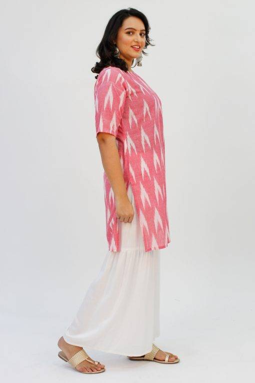 Pink Ikat + White Sharara3