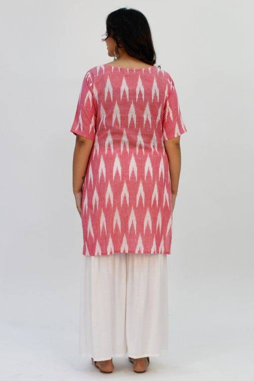 Pink Ikat + White Sharara9