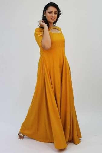 Mustard Gota Anarkali2