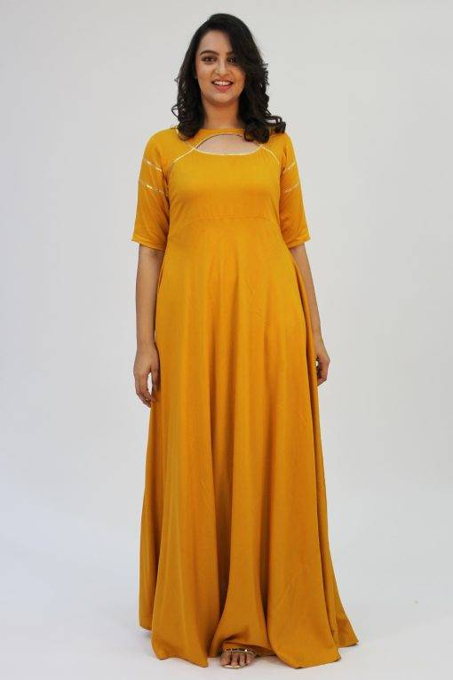 Mustard Gota Anarkali3