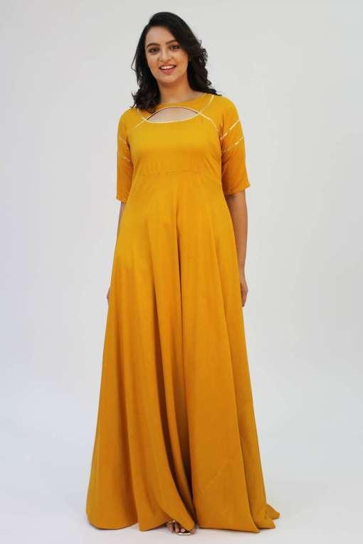 Mustard Gota Anarkali4
