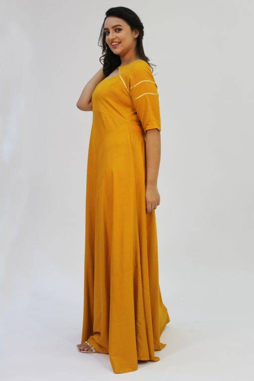 Mustard Gota Anarkali7
