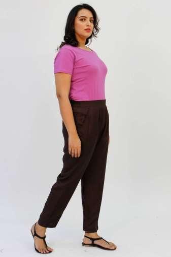 Brown Rayon Trouser1