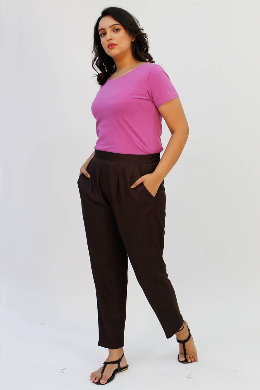 Brown Rayon Trouser5