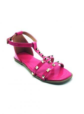 Studded Ankle Strap Flat Sandals2