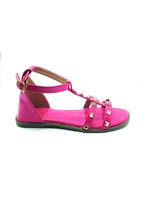Studded Ankle Strap Flat Sandals3