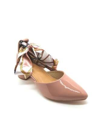 Ribbon Tie-Up Patent Block Heels2