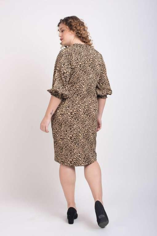Leopard Print Shift Dress1