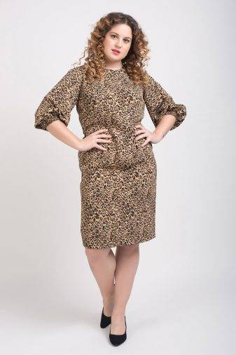 Leopard Print Shift Dress3