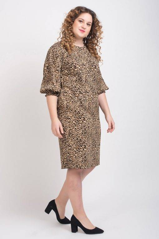 Leopard Print Shift Dress5