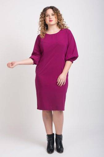 Puff Sleeve Shift Dress1