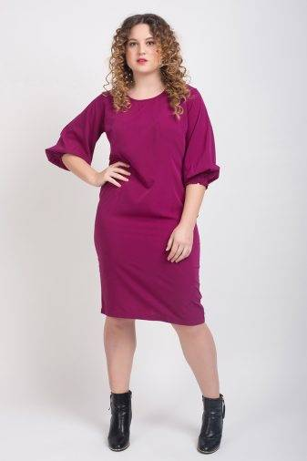 Puff Sleeve Shift Dress2