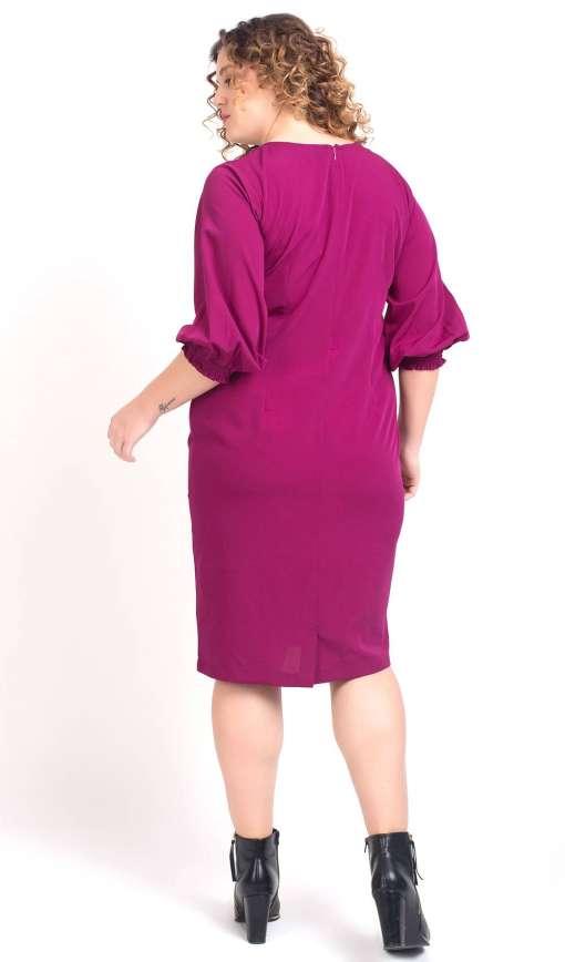 Puff Sleeve Shift Dress6