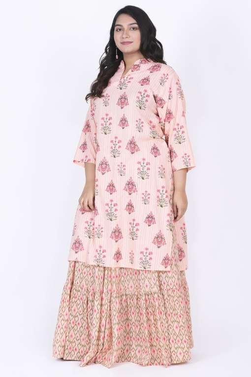 Plus Size kurta with skirt