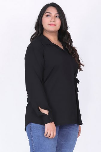 Plus size knot top